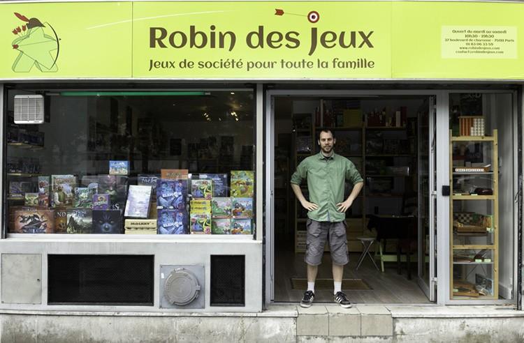"""Robin """"des Jeux"""" vous accueille du mardi au samedi à la boutique"""
