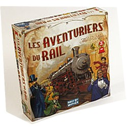 aventuriers du rail, Par Alan R. Moon , illustré par Julien Delval, Édité par Days of Wonder , distribué par Asmodée.