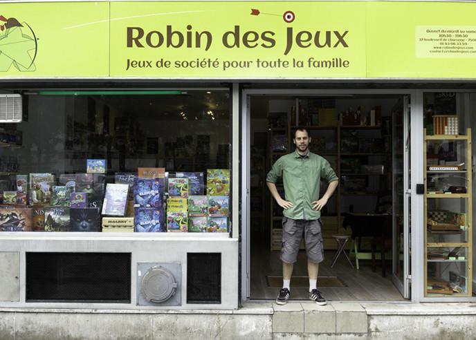 Robin des Jeux, c'est une boutique à Paris 11ème et aussi en ligne sur robindesjeux.com
