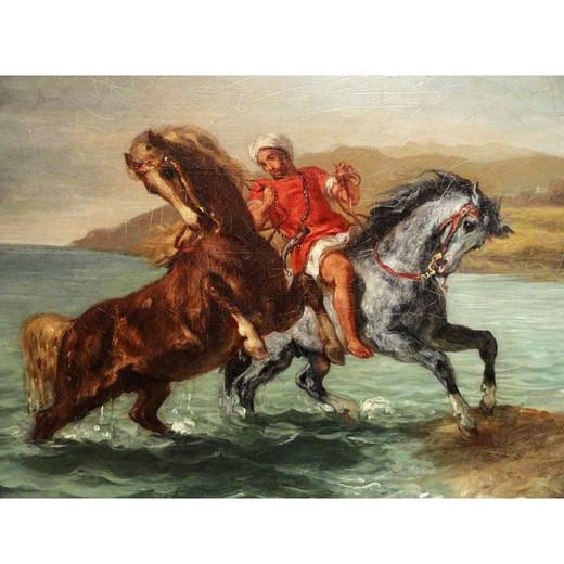 Puzzle Michele Wilson - Chevaux sortant de la mer pf - DELACROIX chez Robin des Jeux Paris