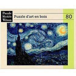 """PUZZLE MICHELE WILSON """"Nuit étoilée"""" VAN GOGH chez Robin des Jeux"""