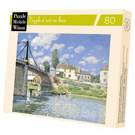 Puzzle Michele Wilson - Le pont à Villeneuve - SISLEY chez Robin des Jeux Paris