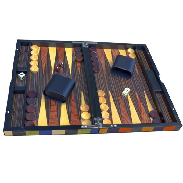 BACKGAMMON ARLEQUIN PRESTIGE 38cm jeu traditionnel de dés, de stratégie et de prises de décisions.