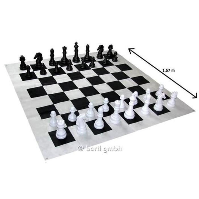 jeu d 39 checs g ant ensemble tapis pi ces pour le. Black Bedroom Furniture Sets. Home Design Ideas