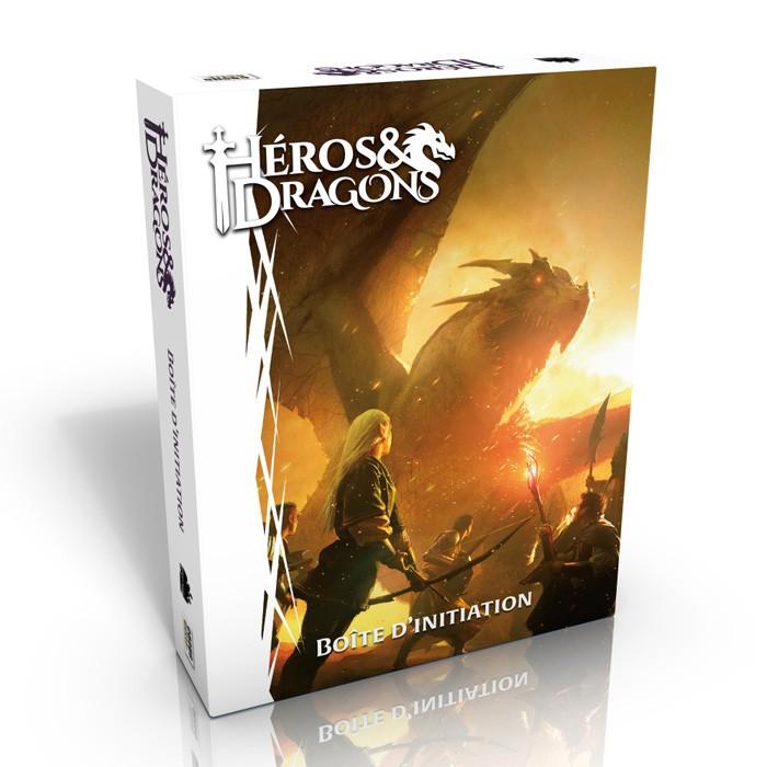 Héros et dragons boîte d'initiation chez Robin des Jeux Paris