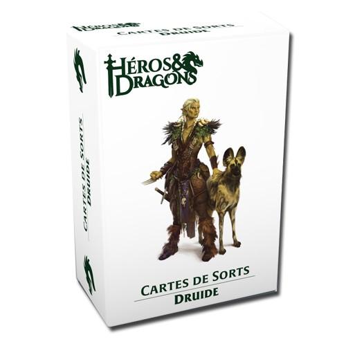 Héros & Dragons cartes de sorts Druide chez Robin des Jeux Paris