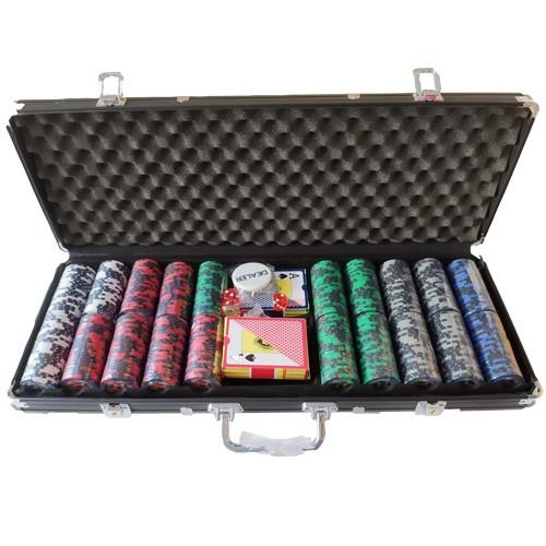 Acheter Malette poker 500 jetons Clay 14.5grs à Paris chez Robin des Jeux